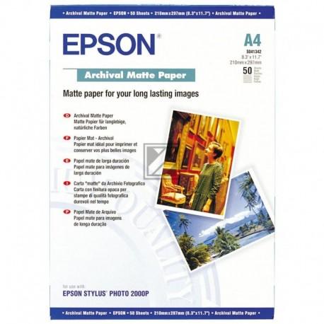Original Epson Archival Matte Paper DIN A4 weiß (C13S041342)