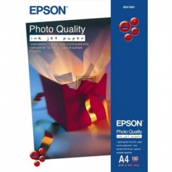 Original Epson Photo Quality Ink Jet Paper DIN A4 100 Seiten weiß (C13S041061)