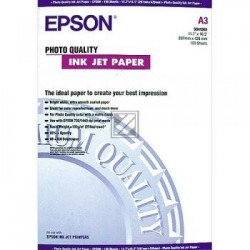 Original Epson Photo Quality Ink Jet Paper DIN A3 100 Seiten weiß (C13S041068)