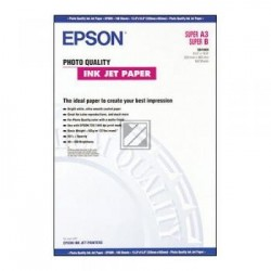 Original Epson Photo Quality Ink Jet Paper DIN A3 100 Seiten weiß (C13S041069)
