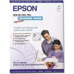 Original Epson Iron-On-Transfer Folie 10 Seiten weiß (C13S041154)