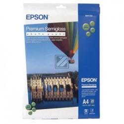 Original Epson Premium Semigloss Photo Paper DIN A4 weiß (C13S041332)