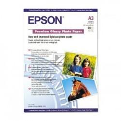 Original Epson Premium Glossy Photo Paper DIN A3 weiß (C13S041315)