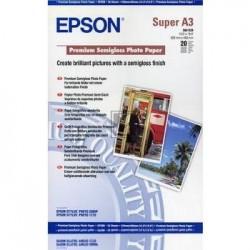 Original Epson Premium Semigloss Photo Paper DIN A3+ weiß (C13S041328)
