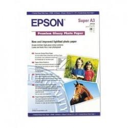 Original Epson Premium Glossy Photo Paper Din A3+ weiß (C13S041316)