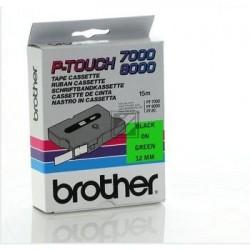 Brother Schriftbandkassette (15.4 m) schwarz/grün (TX-731)