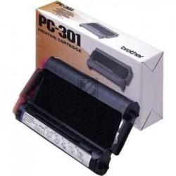 Original Brother Mehrfachkassette + 1 Thermo-Transfer-Rolle schwarz (PC-301)