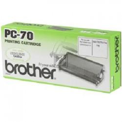 Original Brother Mehrfachkassette + 1 Thermo-Transfer-Rolle schwarz (27717 PC-70)