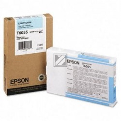 Original Epson Tintenpatrone Ultra Chrome K3 cyan light (C13T605500, T6055)