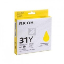 Original Ricoh Gel-Kartuschen gelb (405691, GC31Y)