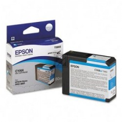 Original Epson Tintenpatrone Ultra Chrome K3 cyan (C13T580200, T5802)